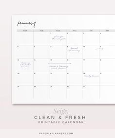 Paperly Planners is offering simple, clean and productive printable and digital planner designs. You can find professionally designed planner inserts here. Monthly Planner Printable, Free Planner, Blog Planner, Planner Template, Planner Pages, Calendar Printable, Planner Ideas, Notes Template, Templates