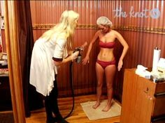 Spray Tanning Tips for Brides -- The Knot Airbrush Spray Tan, Airbrush Tanning, Airbrush Makeup, The Knot, Tan Before And After, Spray Tan Tips, Beauty Skin, Hair Beauty, Tanning Tips
