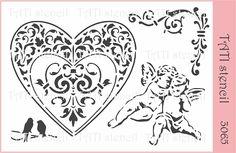 Трафарет гибкий TATI stencil 3065. цена: 29.00 грн. - А6, 15 х 10 см. Трафареты TATI stencil Hobby & Decor - товары для рукоделия