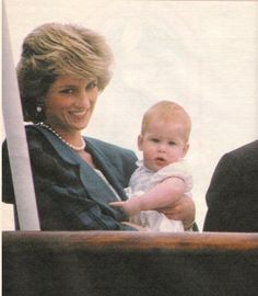 May 5, 1985: Prince Charles and Lady Diana happily reunited with their children, Prince William and Prince Harry, aboard the Royal Yacht Britannia after a 17 day separation during the couple's official tour of Italy.