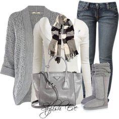 Gray & White.