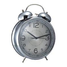 Reloj despertador de acero tipo antiguo. Una pieza funcional y que adornará la casa o la oficina con un ambiente retro. Un regalo original para toda ocasión