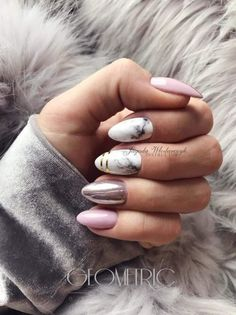 What manicure for what kind of nails? - My Nails Gorgeous Nails, Love Nails, My Nails, Pink Nails, Square Nails, Creative Nails, Almond Nails, Nail Manicure, Trendy Nails