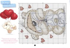 Be my valentine 2 Cross Stitch For Kids, Mini Cross Stitch, Cross Stitch Needles, Cross Stitch Heart, Cross Stitch Animals, Cross Stitching, Cross Stitch Embroidery, Cross Stitch Patterns, Fizzy Moon