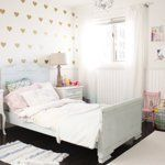 Cottage Chic Meets Glam in Wren's Room Kids Room Tour | Apartment Therapy