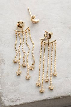 Fringed Lunar Front-Back Earrings, affiliate link