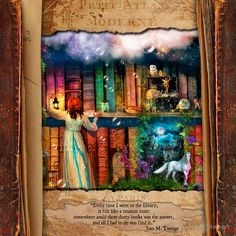 The Curious Library Calendar – June • Buy this artwork on home decor, stationery, bags y more.