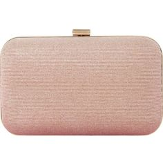 DUNE Bsarah irridescent box clutch (215 BRL) ❤ liked on Polyvore featuring bags, handbags, clutches, structured handbags, hard clutch, dune purse, pink clutches and box clutch