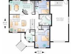 Simple 1 Bedroom House Plans | Simple One Story 2 Bedroom House Plans Level 1
