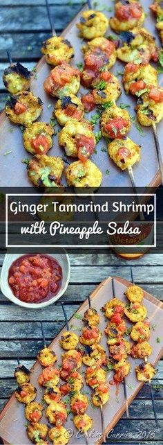 Bring on the tropical flavors this summer with this wonderful sweet and spicy and tangy combo of Ginger Tamarind Shrimp with Pineapple Salsa! Click https://ooh.li/f7038d2 to learn how to win a Four Burner Gas Grill (upto $500 value!!) #ad