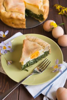 Often, if in a hurry, I will make a version of this pie using filo pastry. But every once in a while I will have the inclination and the time (and the whole it's nearly Easter occasion) to make it - pastry and all. It is SO easy. Make the pastry in a Kitchen Aid with a dough hook and while it rests you can make the filling. Throw it all together and into the oven - simple! It is easy to take away with you too - and great to eat cold or warm................Yummy!