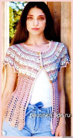 Милая блузочка с круглой кокеткой крючком. Обсуждение на LiveInternet - Российский Сервис Онлайн-Дневников