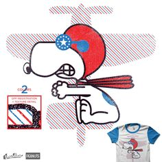 My new Threadless design is up for voting! This one is for the Peanuts Challenge and features Snoopy as the Flying Ace! Fight the Red Baron today!