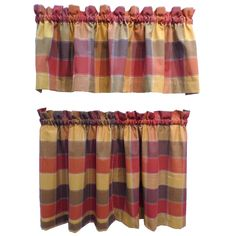 Harris E Plaid Rod Pocket 3 Piece Tier And Valance Set