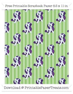 Pistachio Green Striped Large  Rarity Pattern Paper