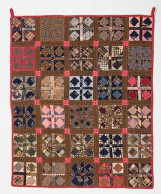 "Fabric privy bag, Shenandoah Valley, VA  Fourth quarter 19th century. 23"" x 19"""