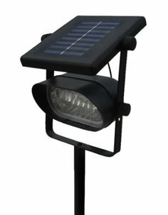 Outdoor Ultra Bright 6 LED Accent Solar Spot Light, 6 big ultra bright LEDs (10mm) #solar #SolarLight