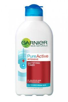 Garnier Skin Naturals Pure Active Spot Purifying Toner - for mattifying oily skin
