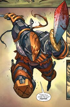 Deathstroke - Living life one comic book at a time. Comic Book Characters, Comic Book Heroes, Comic Character, Comic Books Art, Comic Art, Dc Deathstroke, Deathstroke The Terminator, Deathstroke Cosplay, Arte Dc Comics