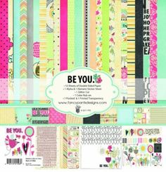 Amazon.com: Fancy Pants Designs 1506 Be You Collection Kit: Arts, Crafts & Sewing