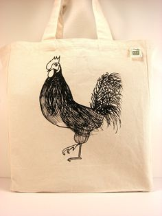 Etsy Rooster Tote
