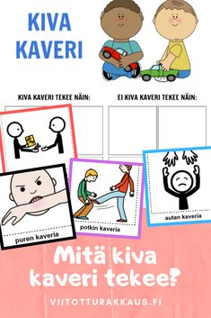 Learn Finnish, Social Skills For Kids, Kindergarten Crafts, Nursery School, Early Childhood Education, Occupational Therapy, Pre School, Teaching Kids, Diy For Kids