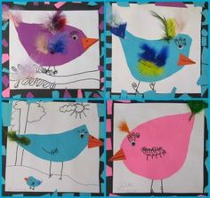 First Graders are finishing up a new project – sweet little chicks!  We learned about collage and following directions while creating this cute project.