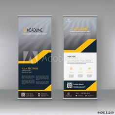Roll up banner stand brochure flyer vertical template design, covers ,infographics ,vector abstract geometric background, modern x-banner and flag-banner advertising design element - Buy this stock vector and explore similar vectors at Adobe Stock