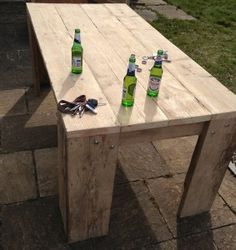 Garden Furniture Made From Scaffolding Planks a cool table made from reclaimed scaffolding boards, manufactured