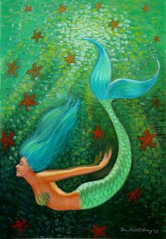 mermaid and starfish