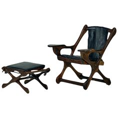 Rosewood Lounge Chair and Ottoman Don Showmaker | 1stdibs.com