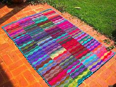 Lizard Ridge afghan...I made a dishcloth out of this once.  I love the use of this pattern for an afghan!