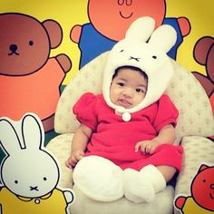 Look at this Miffy fan in training! #adorable