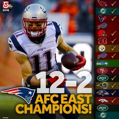 The #Patriots just clinched the AFC East title -- and earned a first round bye by beating the rival #Broncos!!