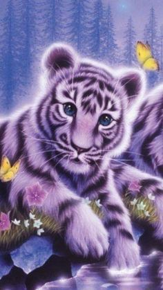 Wall paper nature animals anime scenery ideas for 2019 Cute Wild Animals, Baby Animals Super Cute, Cute Cartoon Animals, Anime Animals, Cute Little Animals, Cute Animal Drawings, Cute Animal Pictures, Cute Drawings, Beautiful Cats