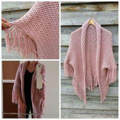 Vest gemaakt van een omslagdoek!!