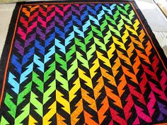 """""""What Goes Up"""" quilt. One block quilt, fabric placement is everything."""