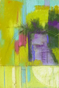 """Arlene Richman, """"Central Park in July-Wednesday,"""" pastel, 14 x 21 1st place winner in Abstract category of The Pastel Journal's 100 competition 2013"""
