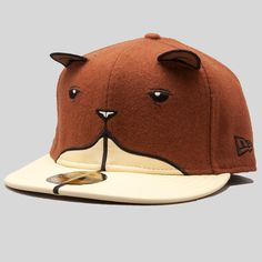 superfishal - The Beaver New Era Fitted Cap by Jeremy Fish