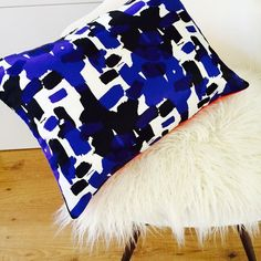 Mid Century Mod Pillow Cover 13x18 Lumbar by sheshappydesign
