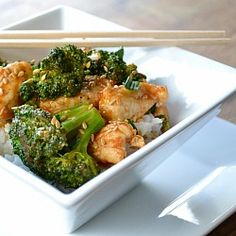 Chicken and Broccoli Stir Fry- a healthier version to the popular takeout dish.