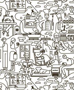MASSIVE UPDATE- a lot of line block and stuff- by Jonathan Calugi, via Behance