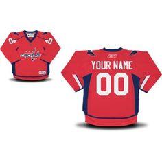 189a92e7c Reebok Washington Capitals Toddler Replica Home Custom Jersey - Red