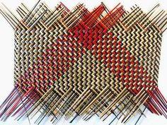Flax Weaving, Weaving Art, Hand Weaving, Weaving Designs, Weaving Patterns, Maori Designs, Wall Hangings, Baskets, Diy Crafts