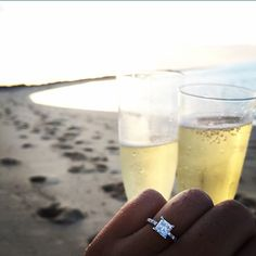 Cheers to this remarkable engagement ring from @jamesallenrings