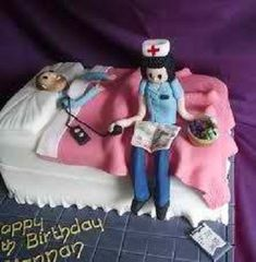 Nurse & Patient Care. SEE MORE: http://www.nursebuff.com/2014/03/coolest-nurse-inspired-cakes/