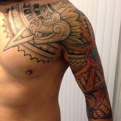 25 Tribal Unique Aztec Tattoo Designs - Ideas & Meanings