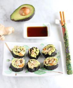 Salmon Sushi Rolls (AIP, Paleo)