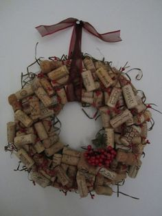 Wine cork wreath, what else am I going to do with all the wine corks?