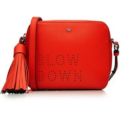 Anya Hindmarch Slow Down Cross Body Leather Shoulder Bag ($795) ❤ liked on Polyvore